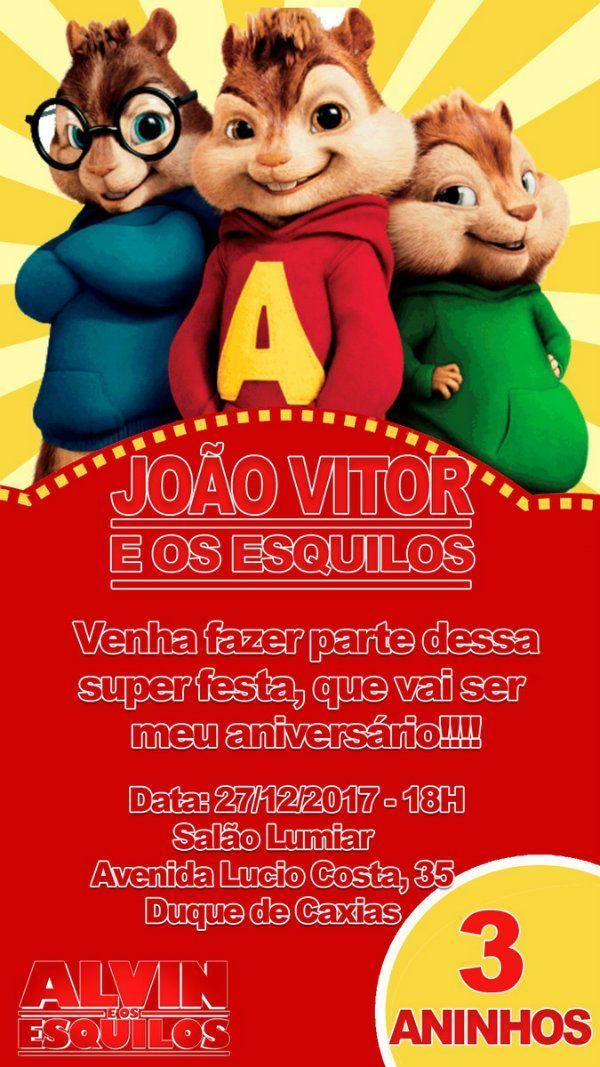 Alvin E Os Esquilos Decoracao De Festa Infantil Em 2020 Com