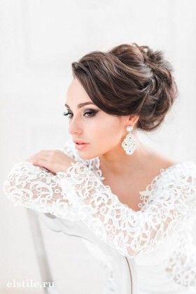 Long Wedding Hairstyles and Bridal Updo Hairstyles for Long Hair from elstile-spb 18