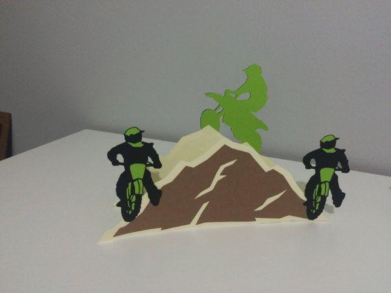 Dirt Bike motocross anniversaire bannière parti signe