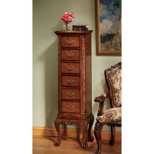 Design Toscano English Chippendale 6 Drawer Tallboy