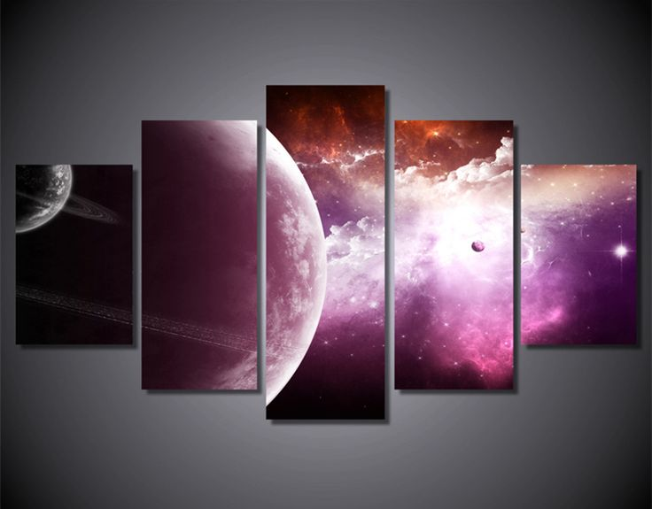5 Шт Home Decor Холст Аватар Искусство Планета Вселенная Звездное Небо Облако Холст Картины Для Номер Печати Плакат, Панно работа купить на AliExpress