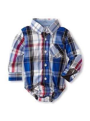 61% OFF Andy & Evan Baby Plaid Shirtzie (Bright Blue)