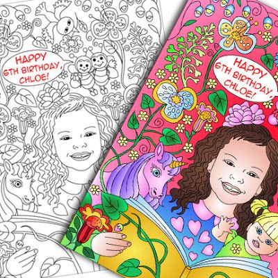 Nicole's party coloring pages
