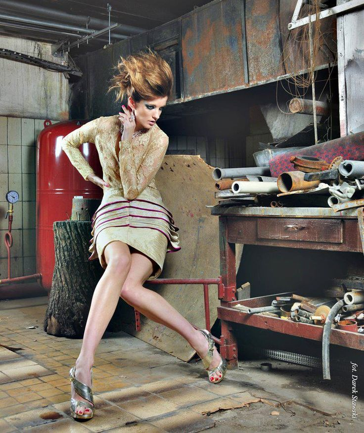 skirt and  blouse with lace - Gabriela Hezner  desiner  , fashion  fot. Darek Stawski