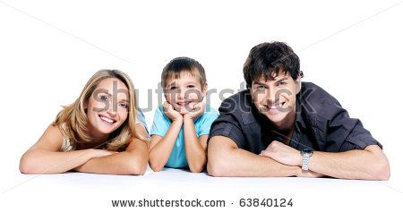 young happy family with child posing on white background by Valua Vitaly, via ShutterStock