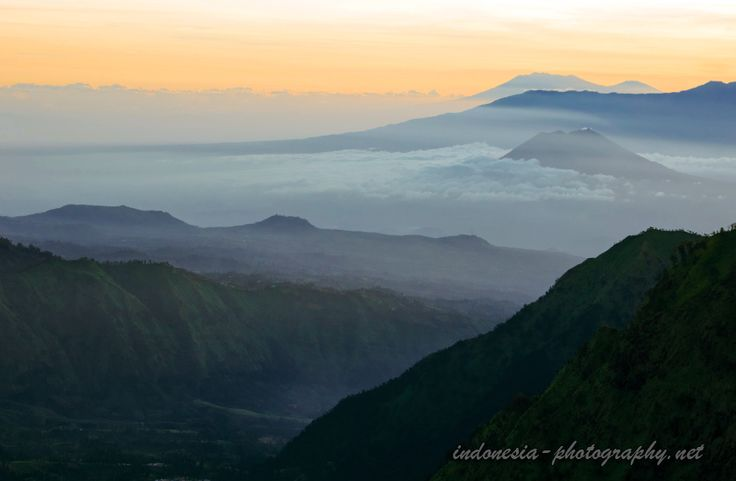 Java highland and volcanoes