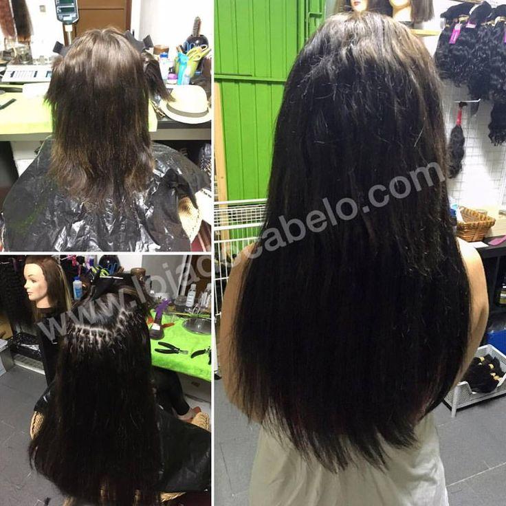 Aplicação Nó Italiano - 250 gramas de cabelo solto de 60/65 cms   Loja do Cabelo - O melhor cabelo, o melhor resultado!