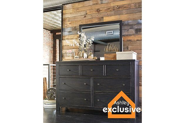 Rustic Brown Wesling Dresser And Mirror View 1 Dresser Home Home Decor