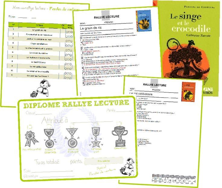 Tout pour organiser un rallye lecture (fiche de suivi des résultats, fiche automatisée pour le classement et les récompenses, diplômes à distribuer aux élèves... )