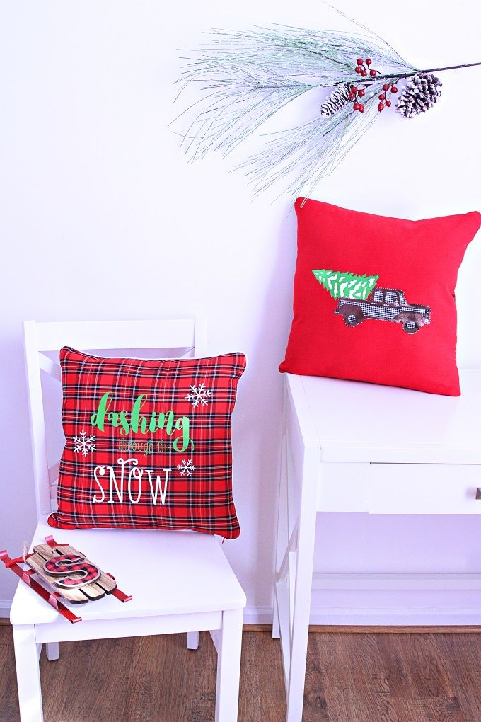 How To Make A Vintage Truck Christmas Throw Pillow & 1594 best PILLOW images on Pinterest | Christmas crafts ... pillowsntoast.com