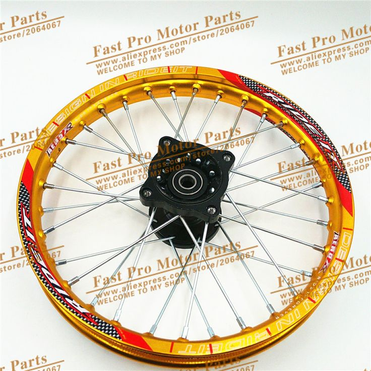"""Dirt Bike Racing 1.40 - 14""""  Inch Gold Alloy Front Wheel Rim with 32 holes fit 60/100-14 tyre off road PRO  Thumpstar KTM CRF"""