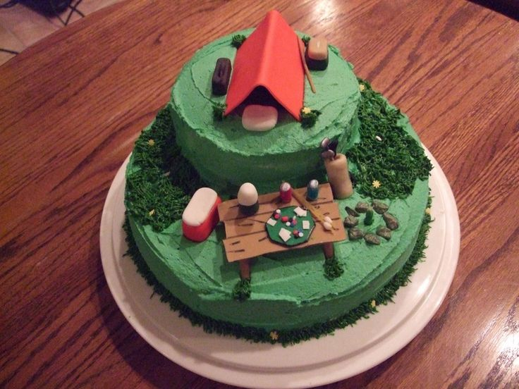 Camping Cake Images