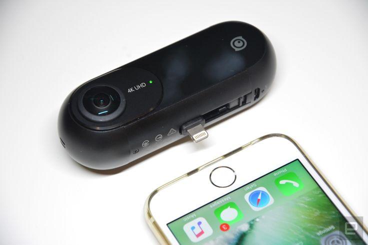 iPhone合体360度カメラInsta360 ONE発売。6軸手ブレ補正で「バレットタイム」撮影、編集も大幅進化 - Engadget 日本版