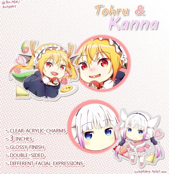 u3010CHARMu3011Maidragon Tohru & Kanna by BIOtifulArt's