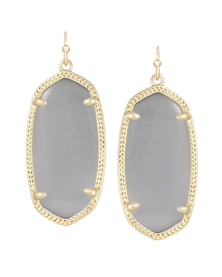 Elle Gold Earrings in Slate - Kendra Scott Jewelry