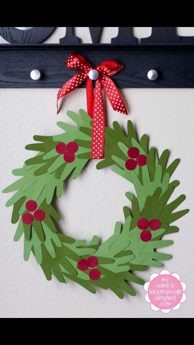 Handmade Christmas Craft - Wreath from Hands