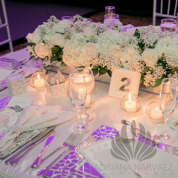 Decoracion mesa para matrimonio