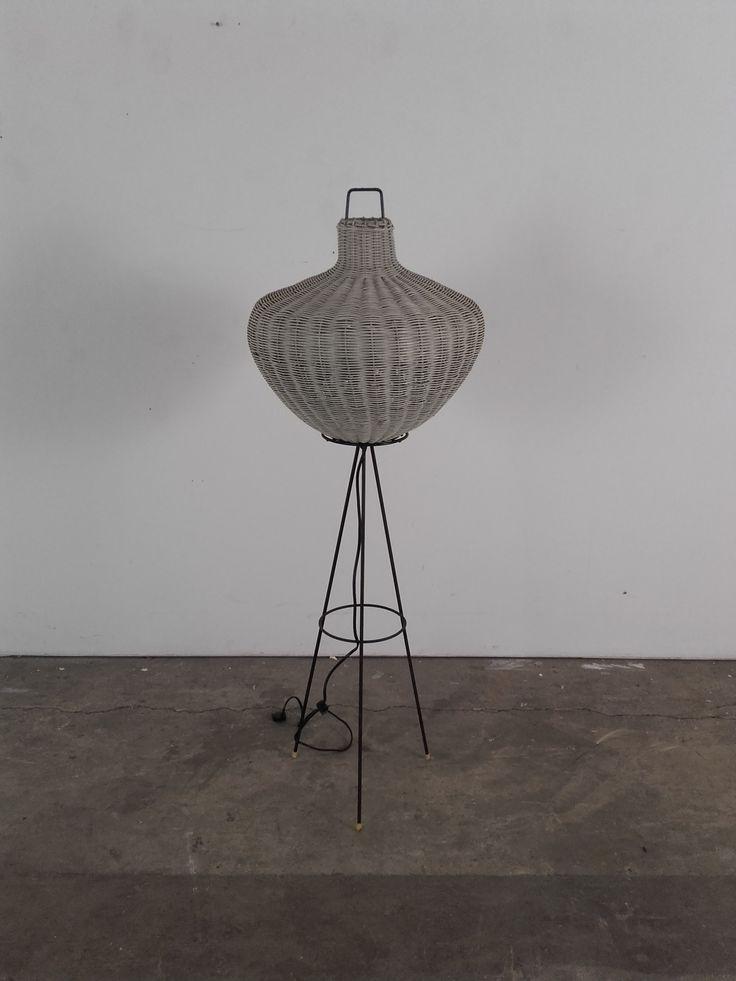 micentury rattan floor lamp
