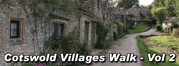 "Take a 60 minute Treadmill Virtual Walk through 5 more picturesque Cotswold English villages: Snowshill, Stanton, Bourton-on-the-Water, Bibury, and ends in arguably the single most scenic village in all of the Cotswolds, Castle Combe - site of numerous motion pictures and TV programs.  The time spent exercising on your treadmill or elliptical will ""fly by!""  Also available at vitadvds."