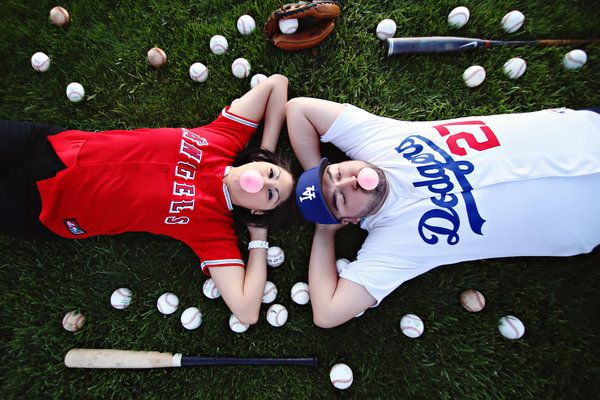 Engagement photo inspiration for baseball fans | Christina Sanchez