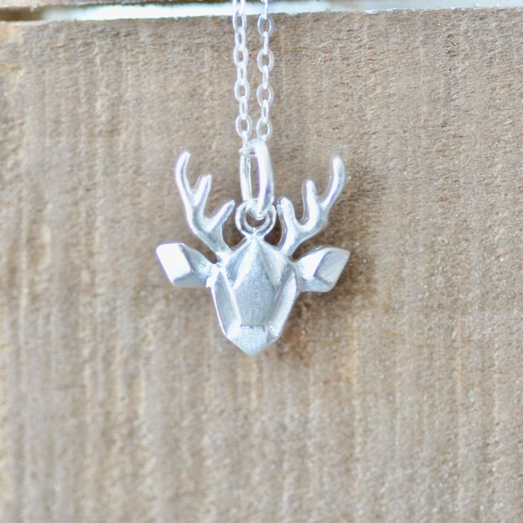 Excited to share the latest addition to my #etsy shop: Origami Moose Necklace in Sterling Silver 925   http://etsy.me/2nKFk0Z