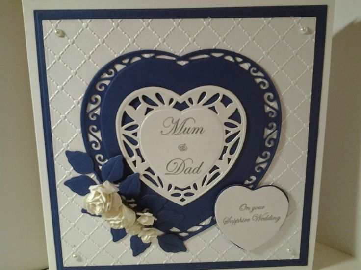 Linda's Hand Made Cards: Sapphire Wedding Anniversary