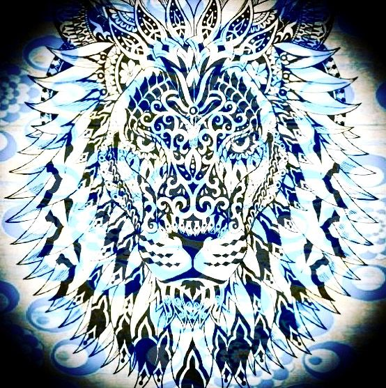 Lion. Polynesian. Good vibrations. Modern art.