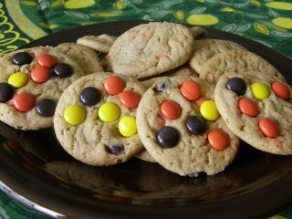 The original recipe was Peanut Butter Chocolate Chip Cookies from Southern Living. I simply replaced the semisweet chocolate morsels in the original recipe with Reeses Pieces. My husband loves peanut butter and this is his favorite treat.