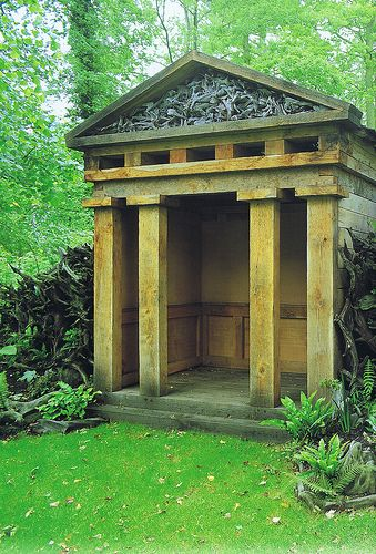 One Of Two Classical Oak Temples In The Stumpery At