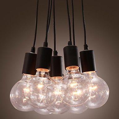 40W E27 Minimalist Pendant Light with 7 Lights – EUR € 98.99