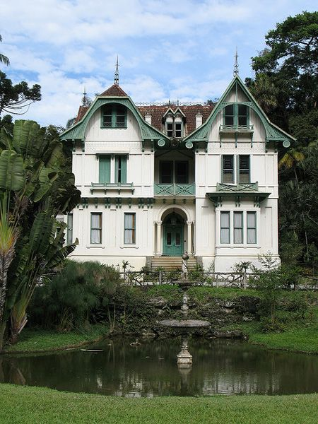 "House of 7 errors - built in 1884 has this nickname due to existing ""bugs"" in architecture when the left and right sides of the facade of the house compared. Petropolis - Rio de Janeiro"