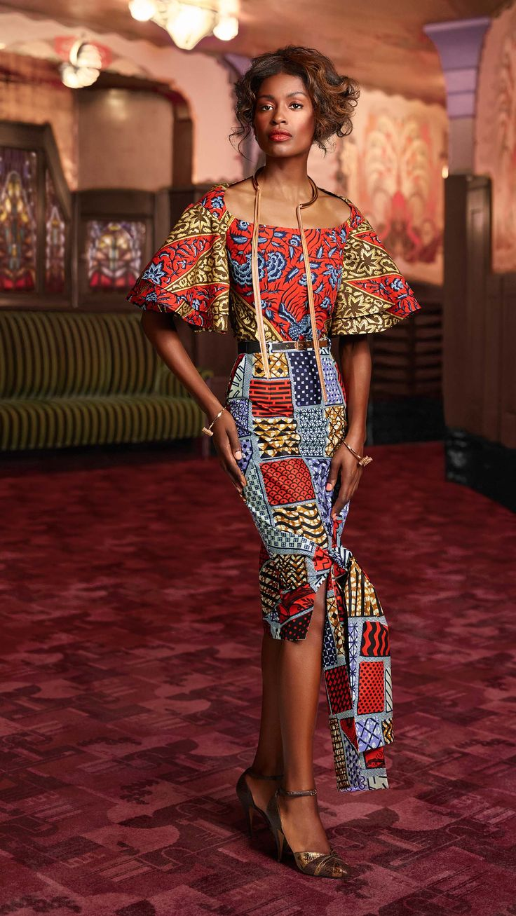 African fashion ankara kitenge african women dresses african prints braids nigerian African fashion style pictures