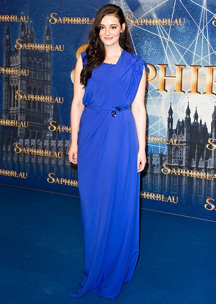 Actress Maria Ehrich attending the premiere of 'Saphirblau' at the Cinedom in…