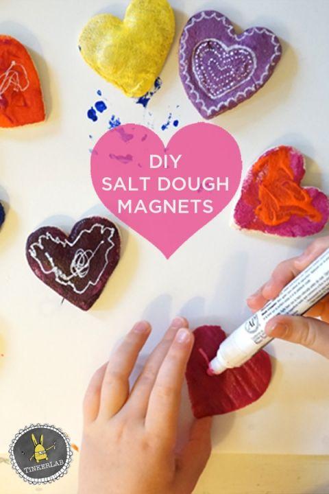 Valentine crafts for kids salt dough magnets crafts for Salt dough crafts figures
