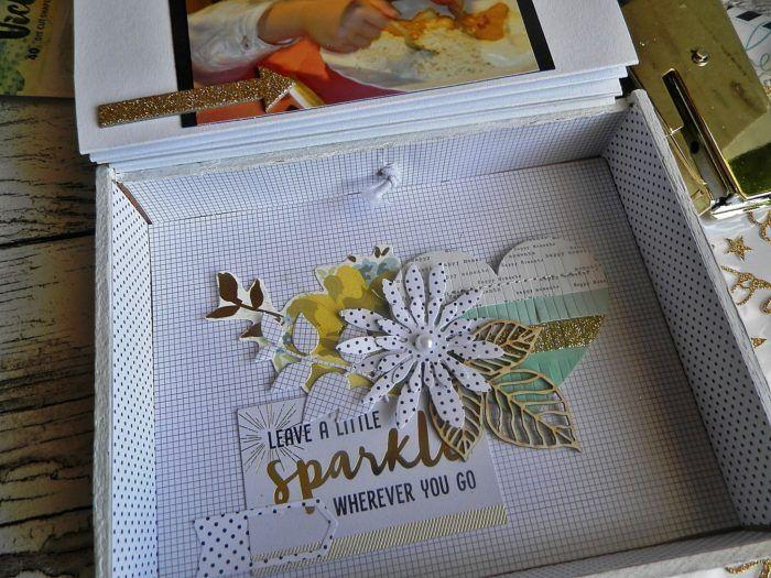 Mini album in a cigar box | ScrapBolt.hu Blog