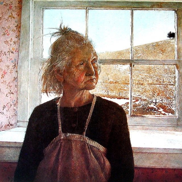 "Andrew Wyeth ""Anna Kuerner""  Tempera on panel  Time spent with Andrew Wyeth was…"