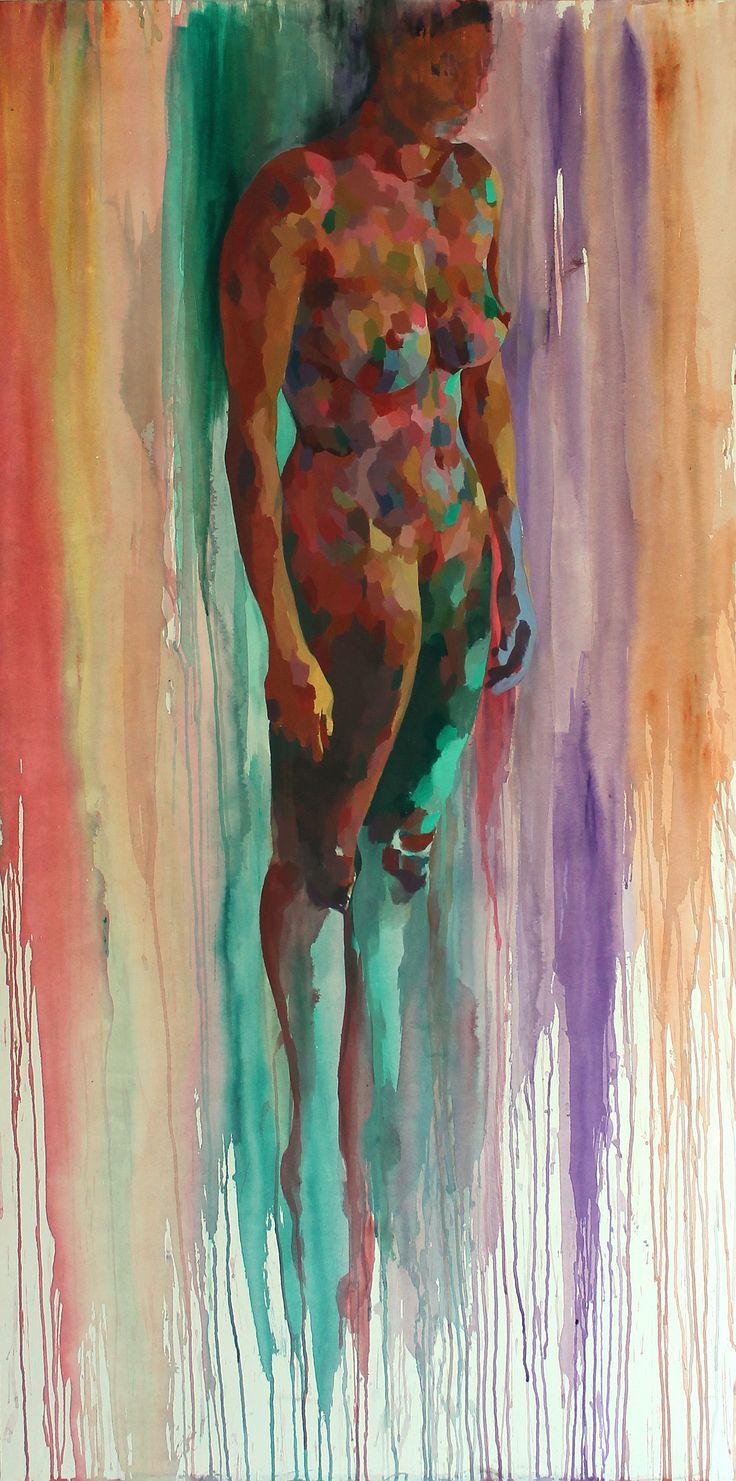 Cuerpo 3. Acrilico sobre lienzo | Acrylic on canvas. 195 x 97 cm. | Héctor Torres | #paint #painting #body #art #nude #acrylic #desnudo #pintura #arte #acrilico