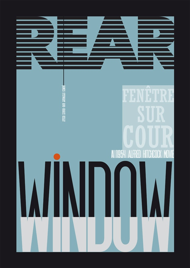 affiche poster cinéma hitchcock rear window par MelleMarcel sur Etsy