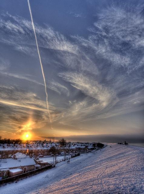 Den Helder, Winter on the dike