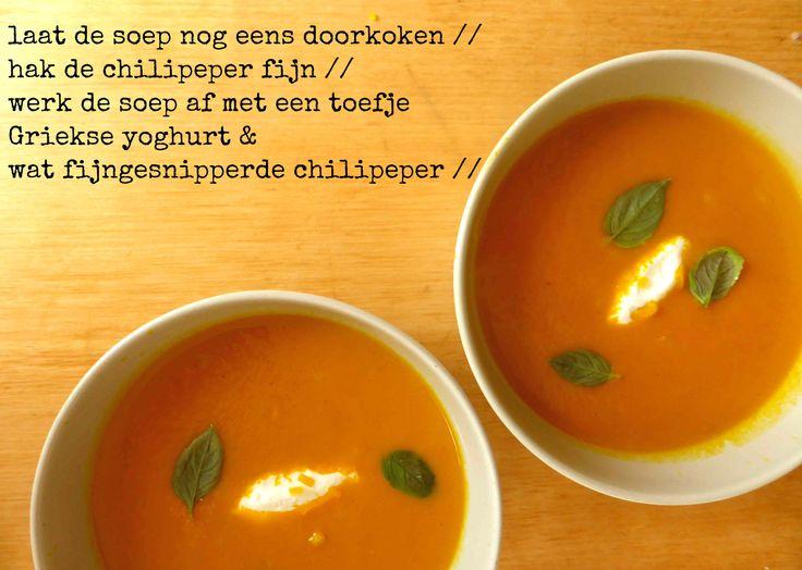 Pittige soep van geroosterde wortelen (Goestjes)