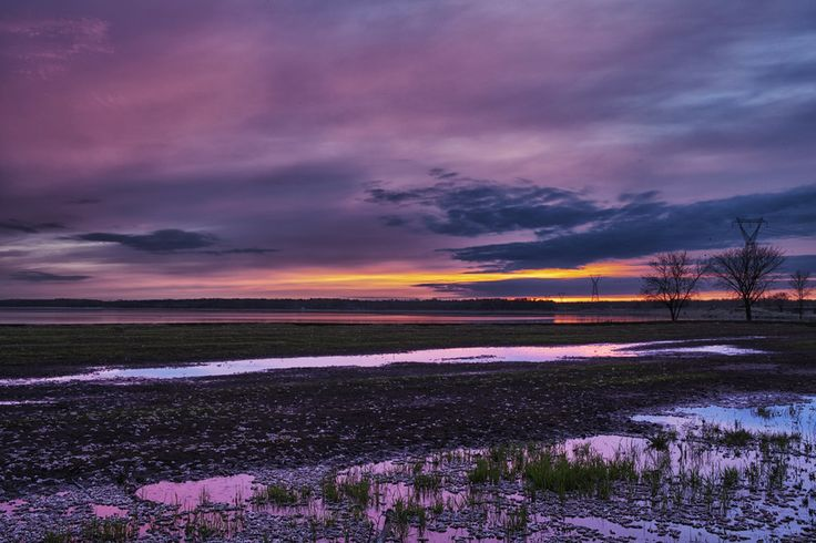Sunset at the Narrows in Manitoba, Canada. Photo by Michael Bardelas