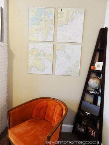 DIY Nautical Chart Art   Revamp Homegoods