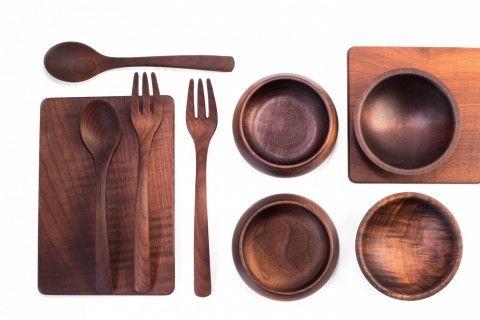 NOMA restaurant tokyo Kebony bowl spoon fork cutlery table  Wahl Ross Maple Copenhagen Design Interior Art Premium Wood High Performance Beautiful