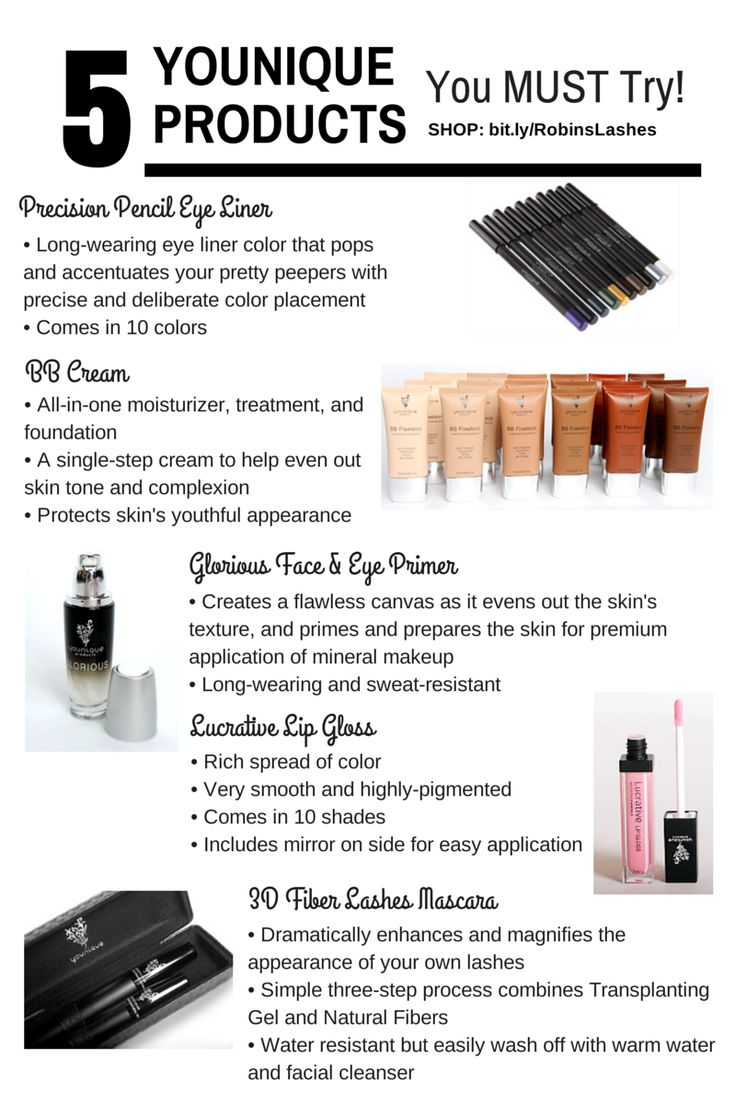 5 Younique Products That You Must Try // Naturally-based skin care and makeup products.