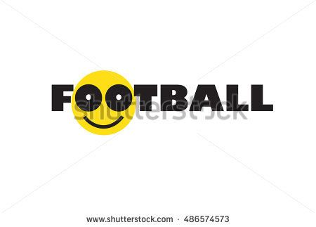 Football Smiley face logo. Football icon background with smile. Smiley. Smile football label. T-Shirt Soccer, Football logo design Vector illustration Sport Kids Camp Summer, Winter football champions