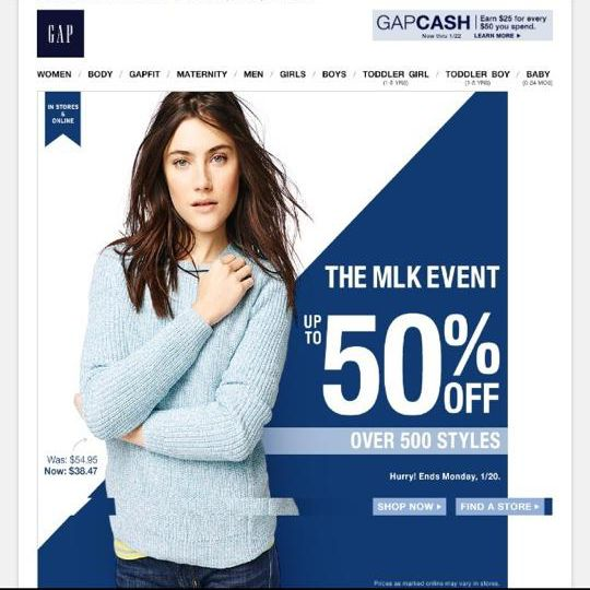 Gap Gets Backlash Over MLK Day Sale | Awfbase News