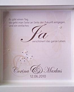Personalisierbares Hochzeitsgeschenk , Namen des Brautpaares und Hochzeitsdatum, Perlen, Glitzer, 3D #Hochzeit #brautpaar #Hochzeitsgeschenk