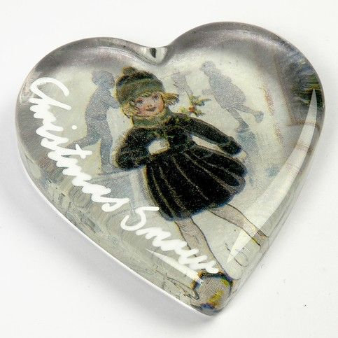 Decorated Glass Heart