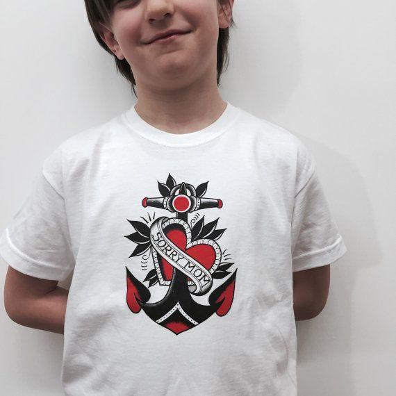 Tshirt maglietta per bambini con stampa old di Hardtimestore