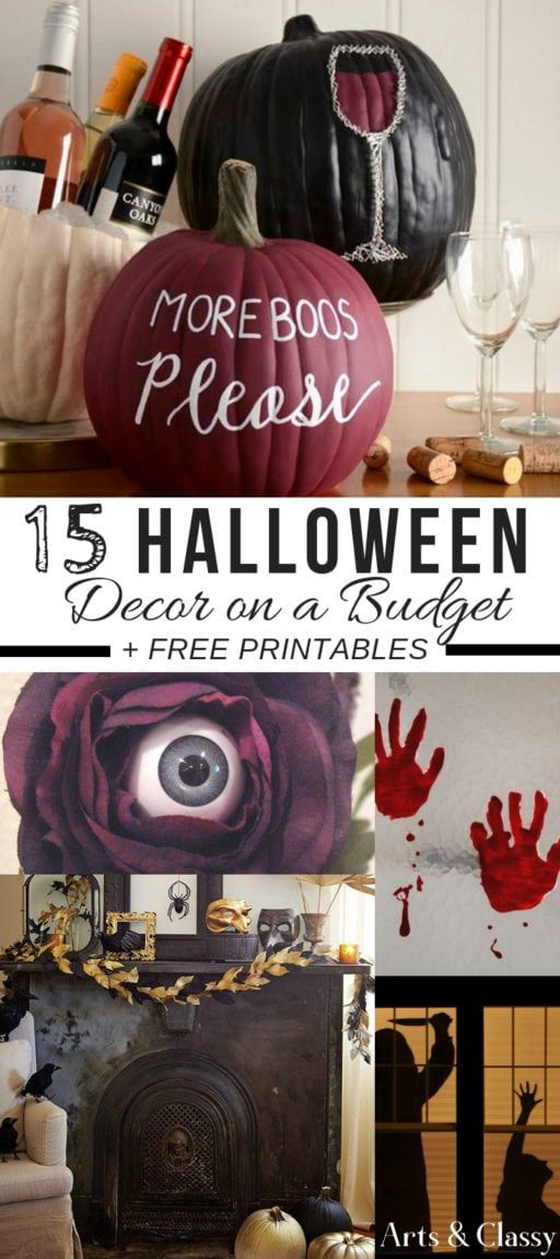 15 Halloween Decorating Projects on a Budget + FREE Printables